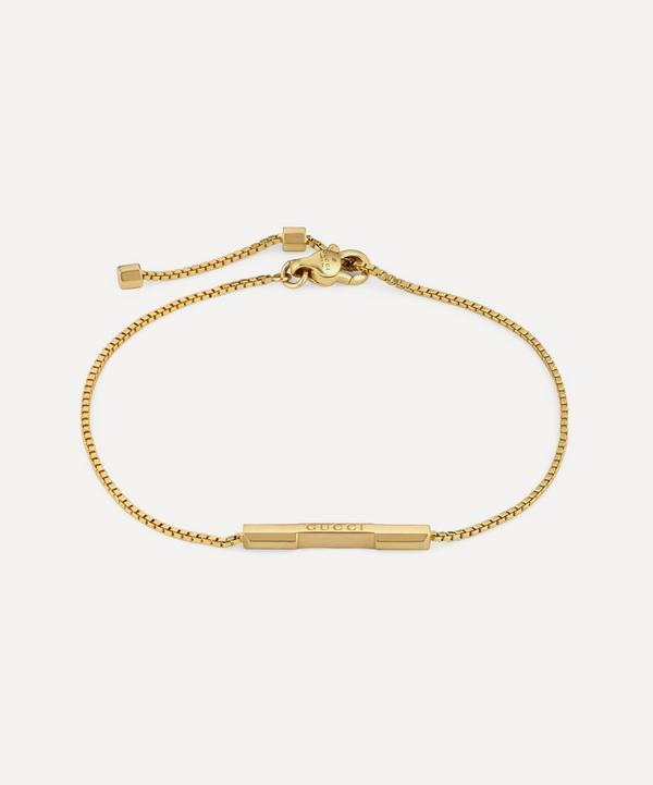 Gucci - 18ct Gold Link to Love Gucci Bar Bracelet