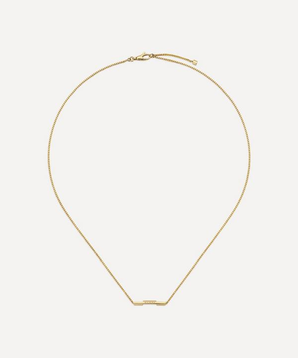 Gucci - 18ct Gold Link to Love Gucci Bar Pendant Necklace