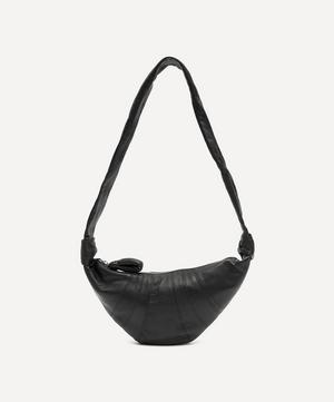Small Leather Croissant Shoulder Bag