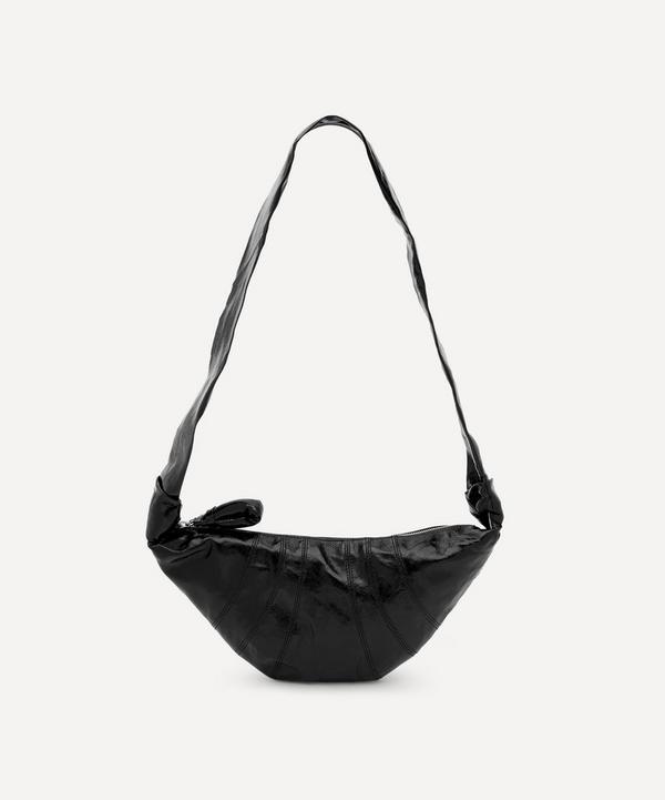 Lemaire - Small Coated Linen Canvas Croissant Shoulder Bag