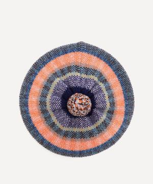 Tweed Stripe Wool Beret