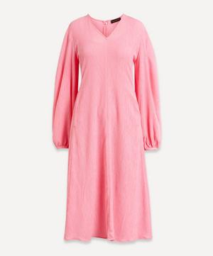 Rosen Crinkle Flare Midi-Dress