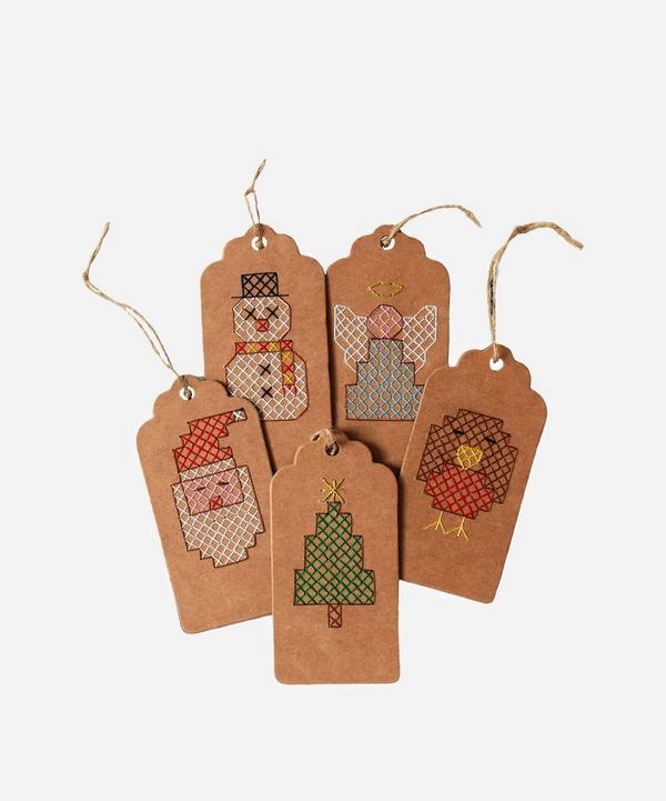 Bobo Stitch - Christmas Gift Tags Cross Stitch Kit