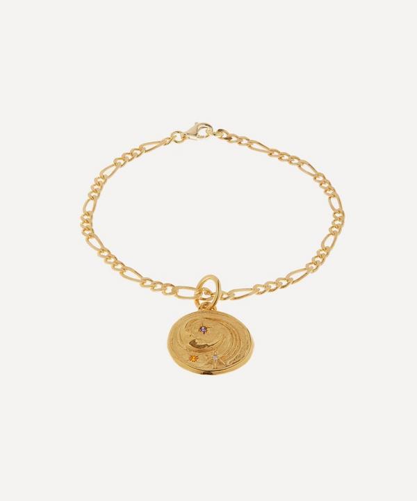 Hermina Athens - Gold-Plated Luna Small Multi Zirconia Charm Bracelet