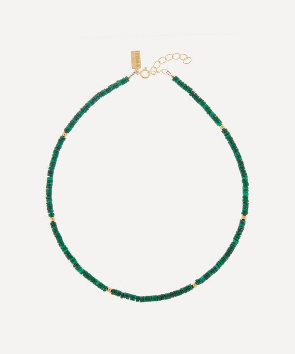 Hermina Athens - Romancing the Stone Malachite Beaded Necklace