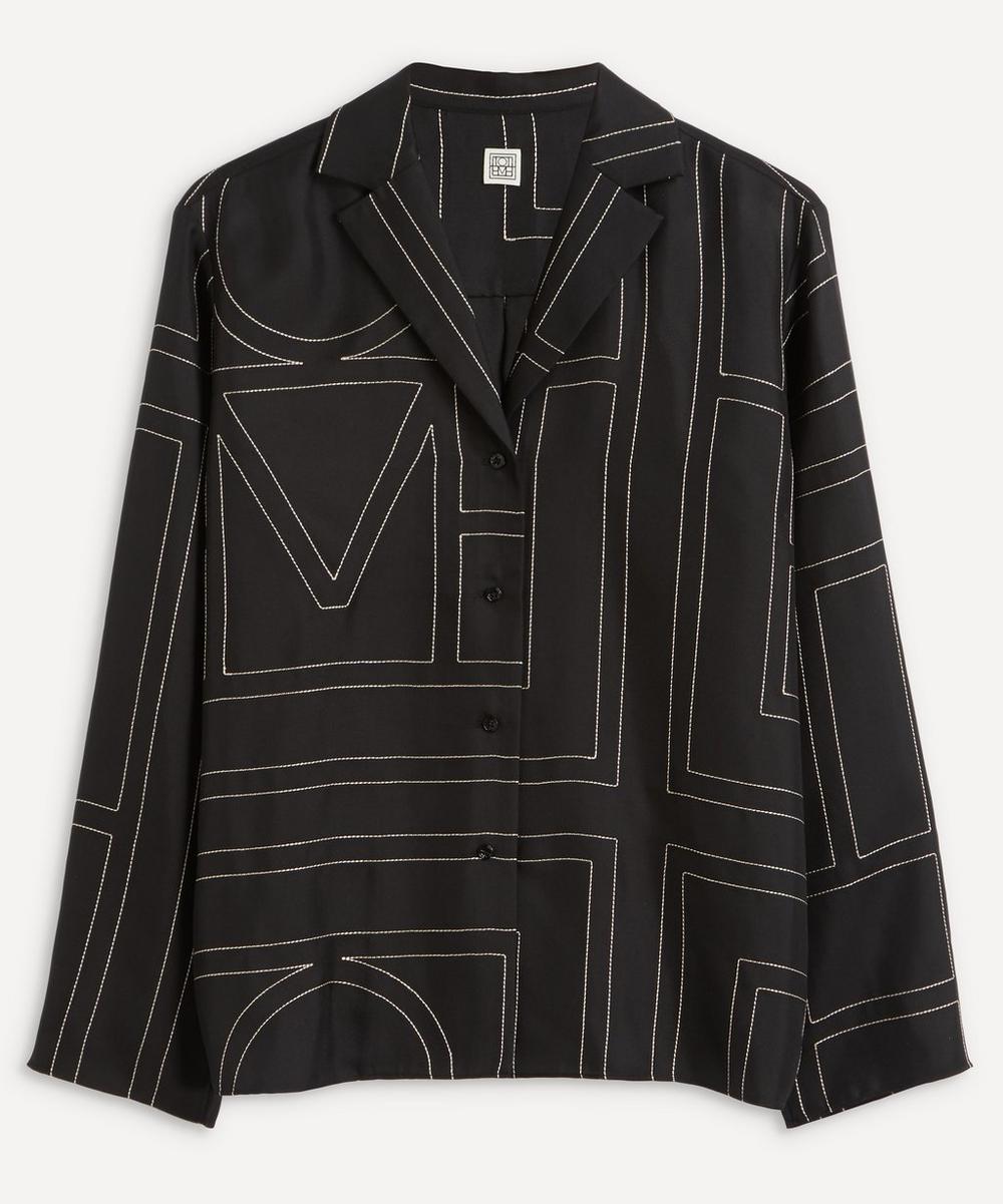Totême - Monogram Silk Pyjama Shirt