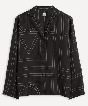 Monogram Silk Pyjama Shirt