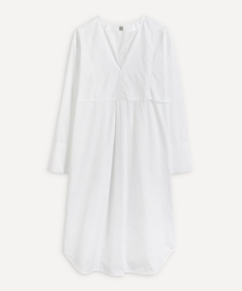 Totême - Plain Bib Shirt Dress
