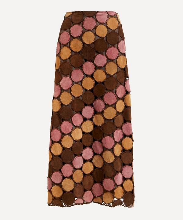 Designer Vintage - 70's Couture Suede Dot Skirt