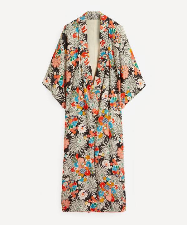 Designer Vintage - 30's Couture Printed Silk Kimono