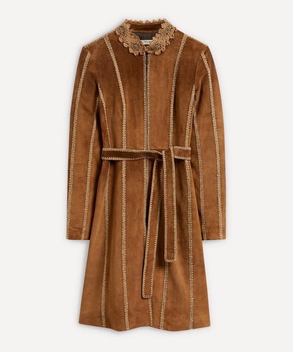 Designer Vintage - 00's Prada Panelled Suede Coat