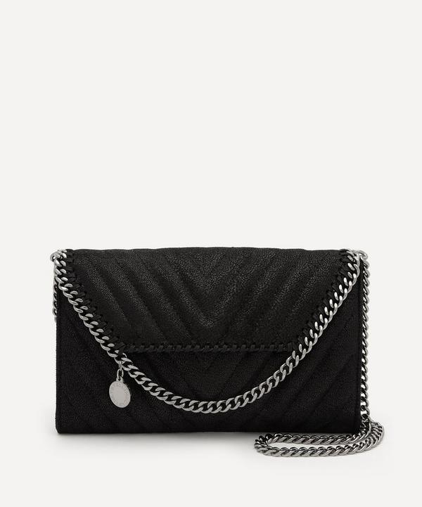 Stella McCartney - Falabella Mini Chevron Quilted Faux Leather Cross-Body Bag