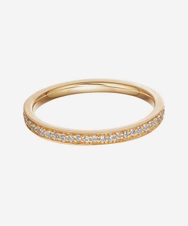 Astley Clarke - Gold Plated Vermeil Silver Biography White Sapphire Eternity Ring