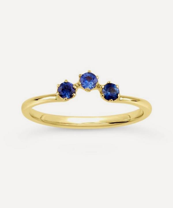 Dinny Hall - Gold Ellie Cornflower Blue Sapphire Crown Ring