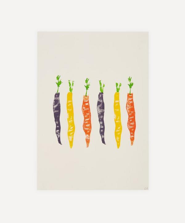 Ellie Edwards - Carrots Unframed A4 Lino Print