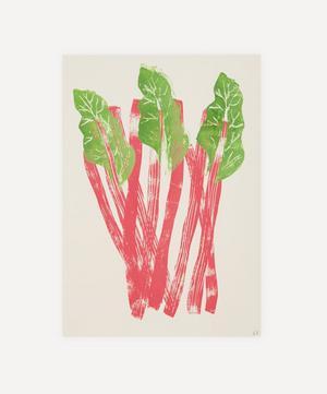 Rhubarb Unframed A4 Lino Print
