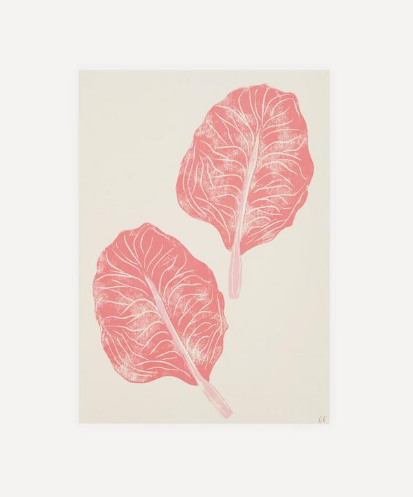 Ellie Edwards - Pink Radicchio Unframed A4 Lino Print