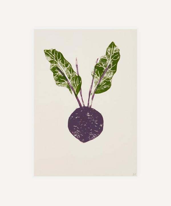Ellie Edwards - Beetroot Unframed A4 Lino Print