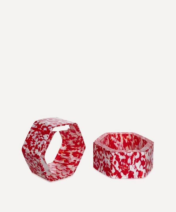 Stories of Italy - Macchia su Macchia Murano Glass Napkin Rings Set of Six