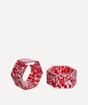 Macchia su Macchia Murano Glass Napkin Rings Set of Six