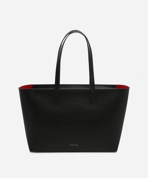 Small Zip Leather Tote Bag