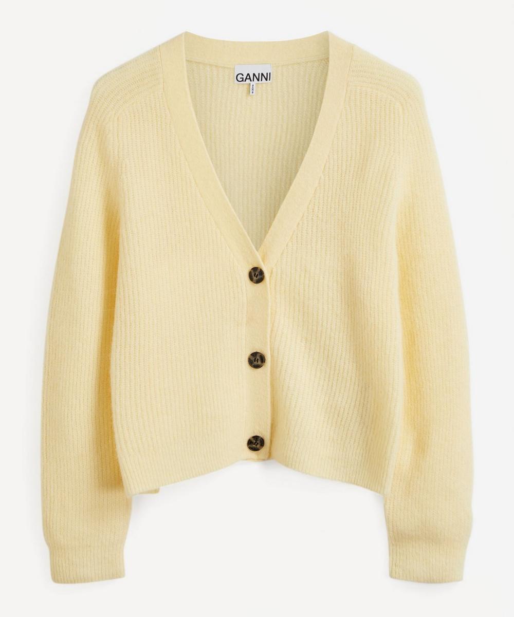 Ganni - Soft Merino Wool-Mix Knit Cardigan