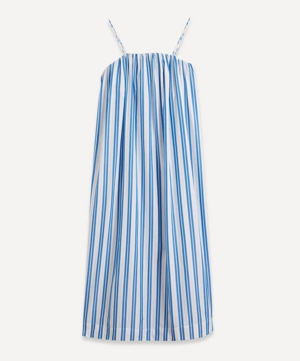 Ganni - Strappy Stripe Organic Cotton Dress