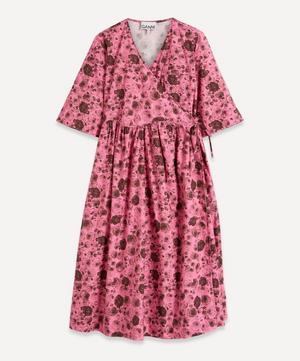 Rose Print Organic Cotton Wrap-Dress