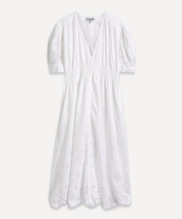 Ganni - Broderie Anglaise Midi-Dress