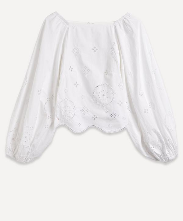 Ganni - Broderie Anglaise Open-Back Top