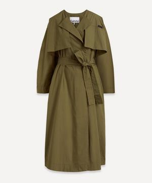 Stretch Canvas Trench Coat