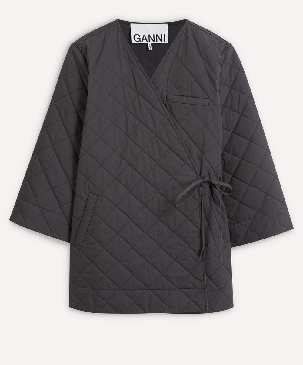 Ganni - Side-Tie Quilted Jacket