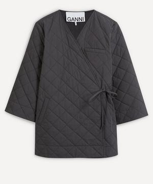 Side-Tie Quilted Jacket