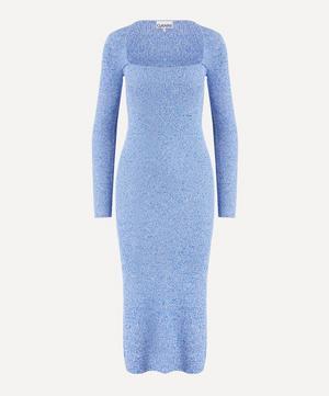 Long-Sleeve Melange Knit Dress