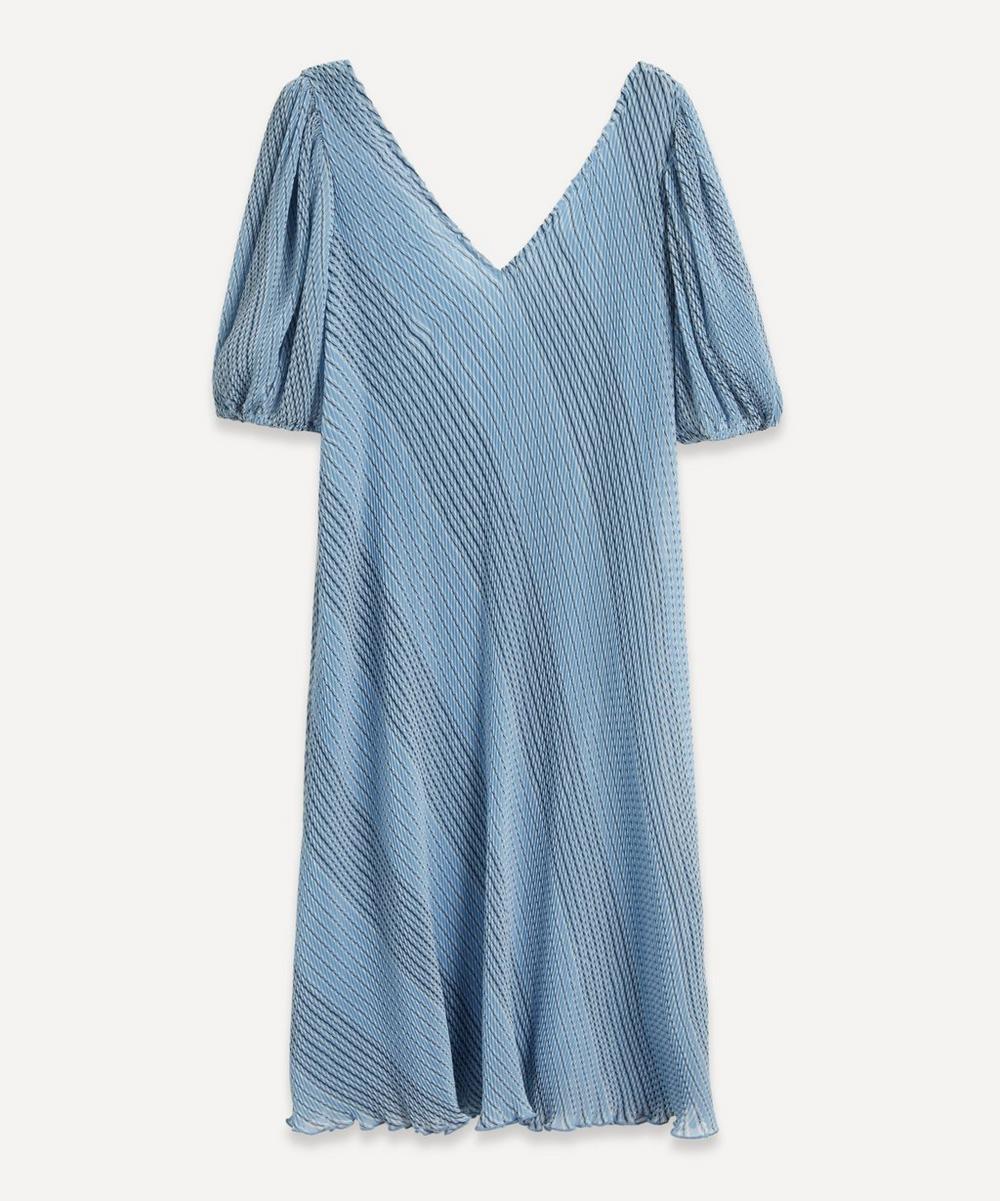 Ganni - Pleated Georgette Midi-Dress