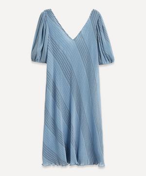 Pleated Georgette Midi-Dress
