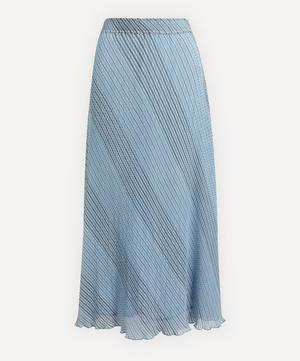 Pleated Stripe Georgette Skirt