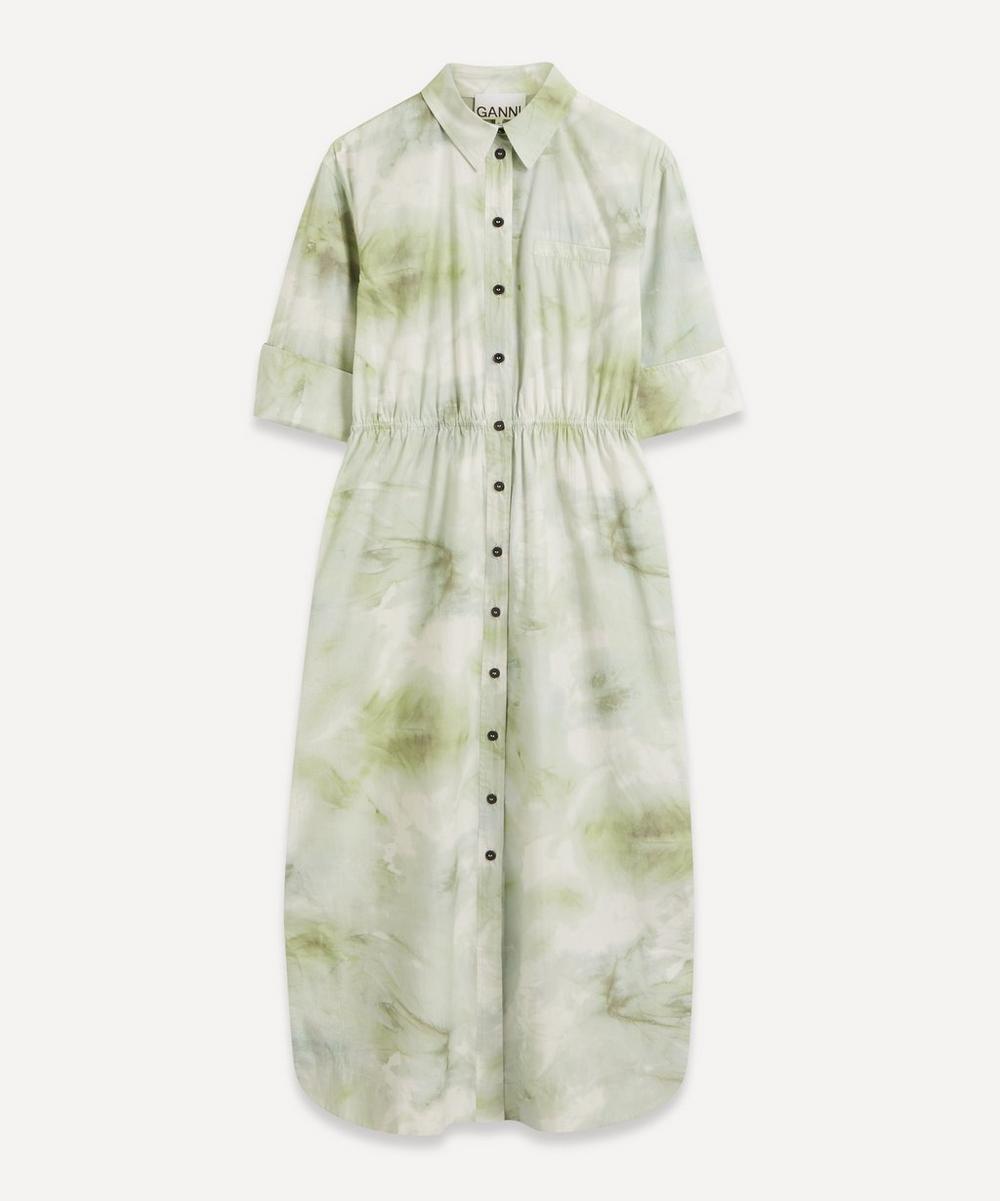 Ganni - Watercolour Poplin Maxi-Dress