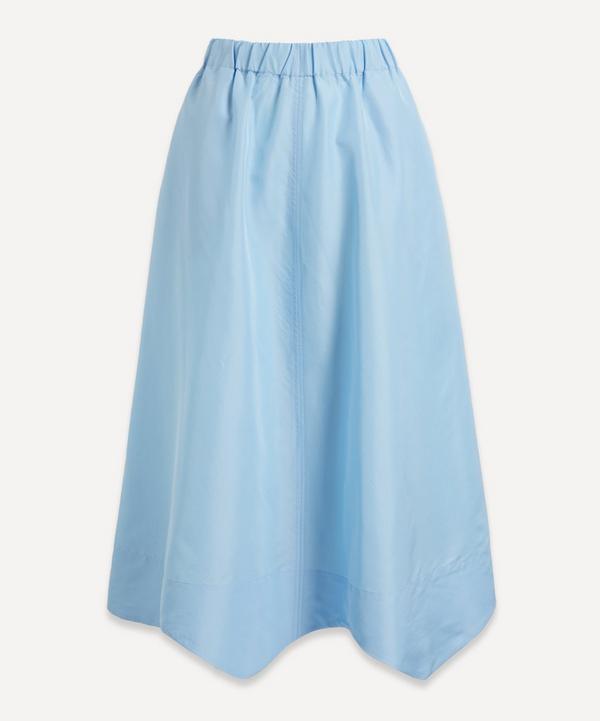 Ganni - Wavy Taffeta Midi-Skirt