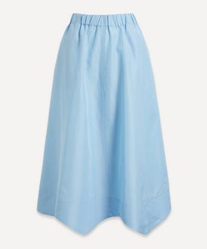 Wavy Taffeta Midi-Skirt