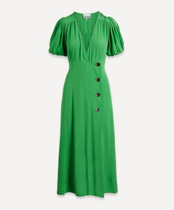 Ganni - Ripstop Wrap Midi-Dress