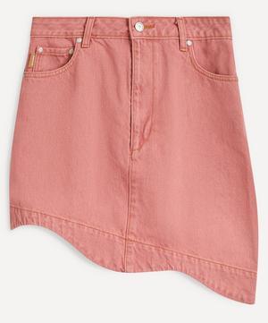 Scallop Hem Denim Skirt