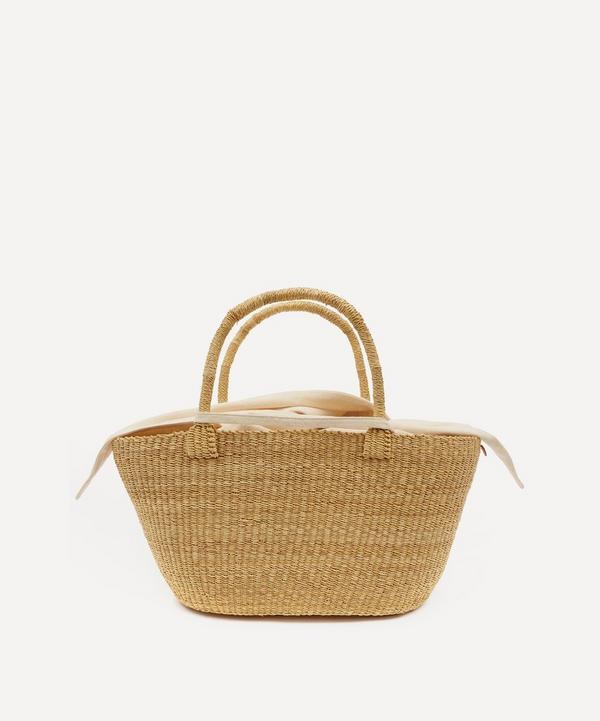 Muuñ - Panier Woven Straw and Cotton Basket Tote Bag