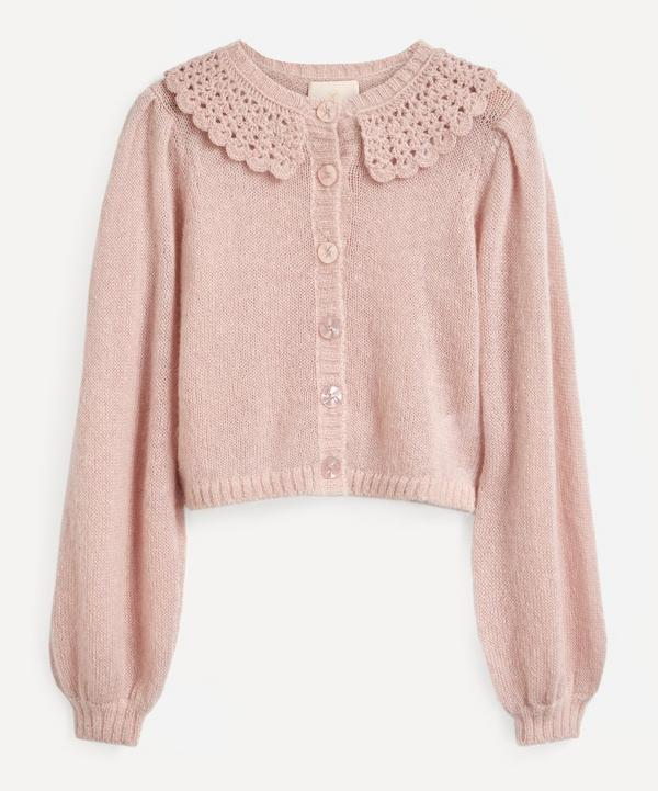 byTiMo - Lace Collar Knit Cardigan