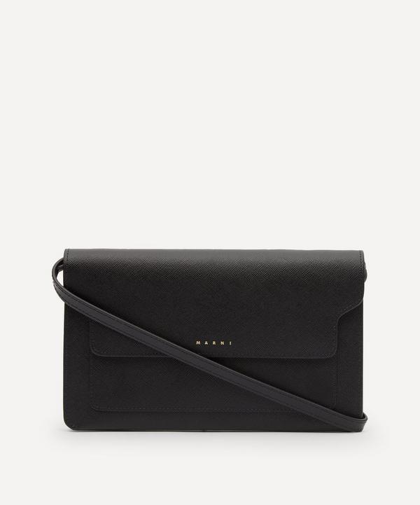 Marni - Trunk Leather Clutch Bag