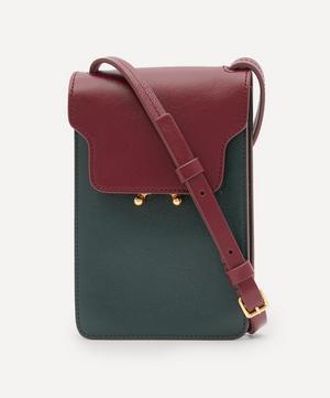 Trunk Mini Vertical Leather Cross-Body Bag