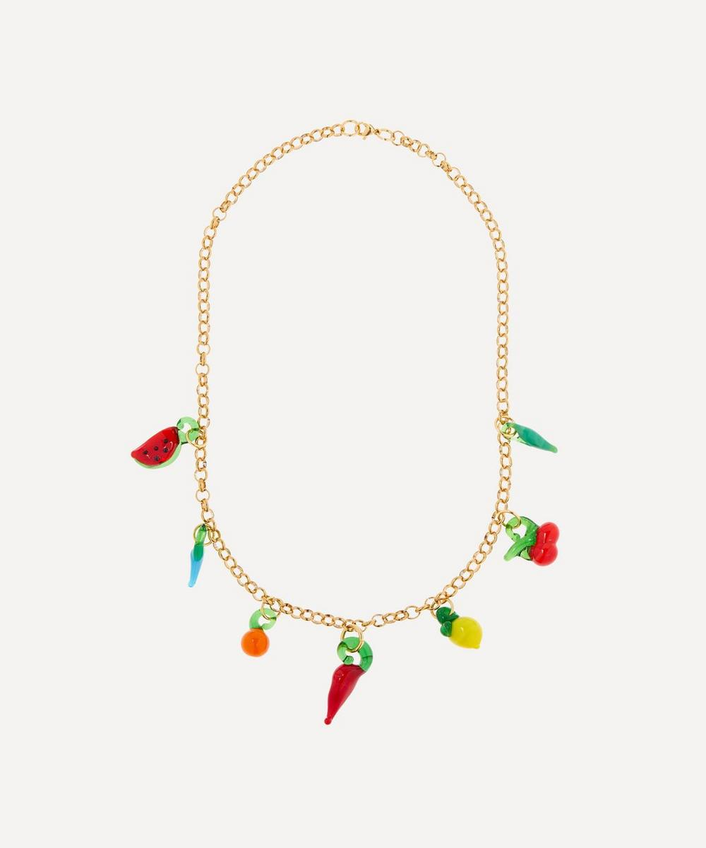Sandralexandra - Gold-Plated Groceries Chunky Chain Necklace