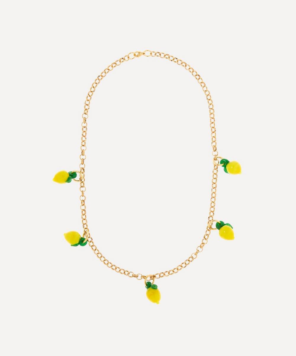 Sandralexandra - Gold-Plated Lemon Chunky Chain Necklace