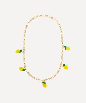 Gold-Plated Lemon Chunky Chain Necklace