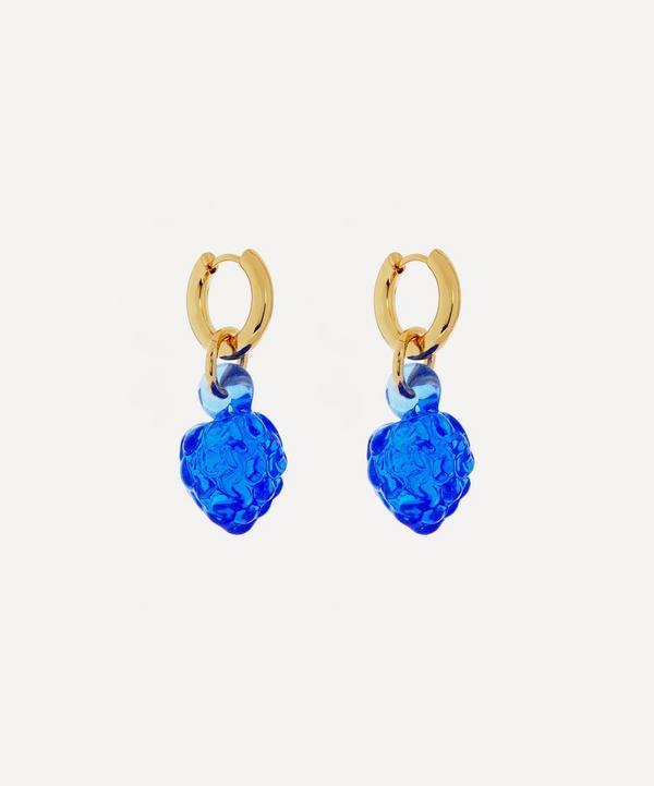 Sandralexandra - Gold-Plated Beach Pebble Hoop Earrings